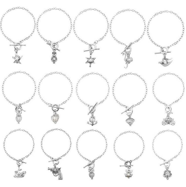 New arrival Selling creative oyster pearl bracelet hollow can open DIY pendant mix order 20 pieces /lot Charm Bracelets