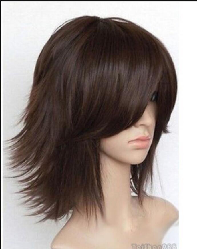 Парик бесплатная доставка горячая распродажа новинка короткие коричневые прямые женские женские парики волос