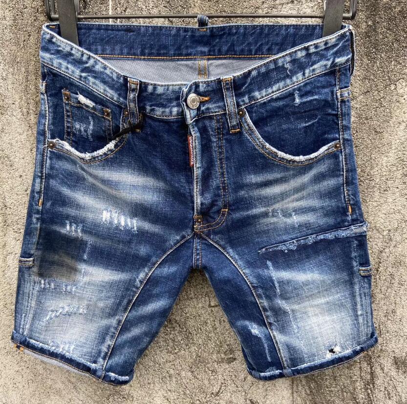 2020 Nuova famoso designer di marca strappato lunga giovani mens Individualità morbidi jeans di qualità morbida di lusso della moda motociclista degli uomini vendita calda Jean pantaloncini