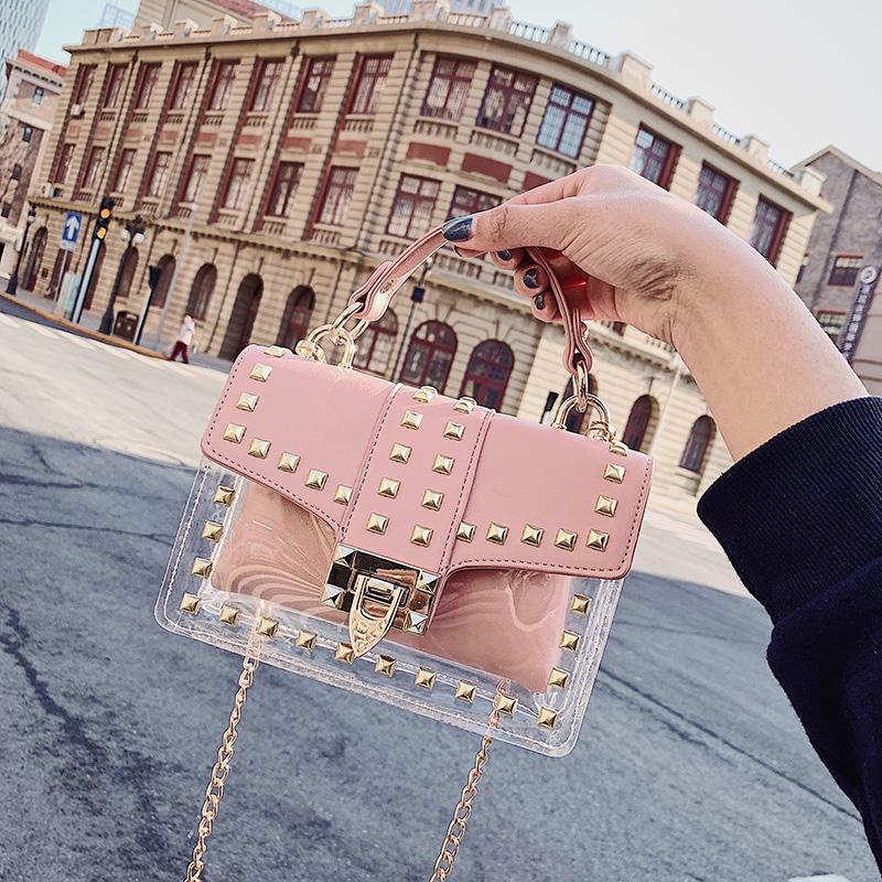 Designer-2019 mode sac à main d'été Lady Sacs à main sac à bandoulière paquet Rivet Designer Sac Messenger Bag hecai / 3