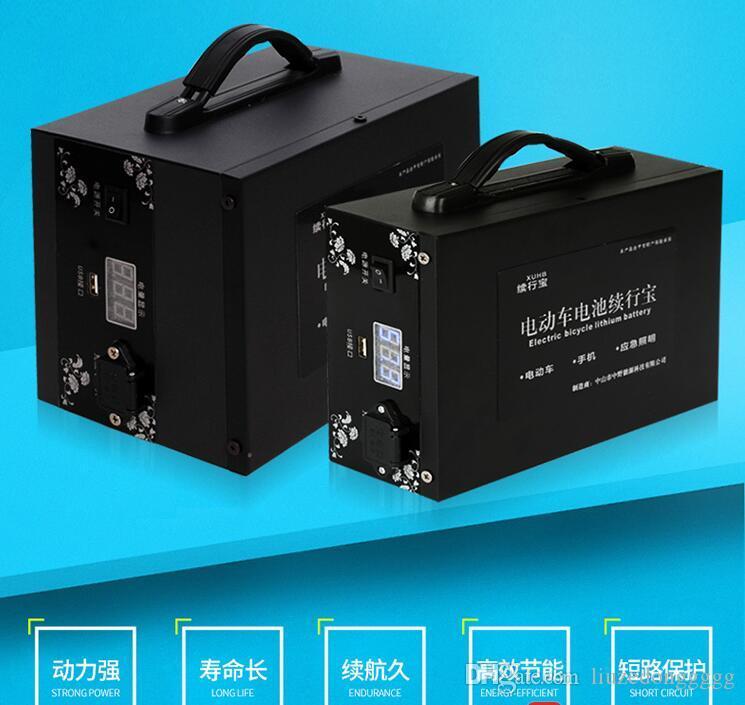 48V 20AH Vespa batería 48V Li-ion de la batería del banco de potencia de suministro de prolongar el tiempo de ejecución se extiende trabajo + USB 5V del envío libre del cargador
