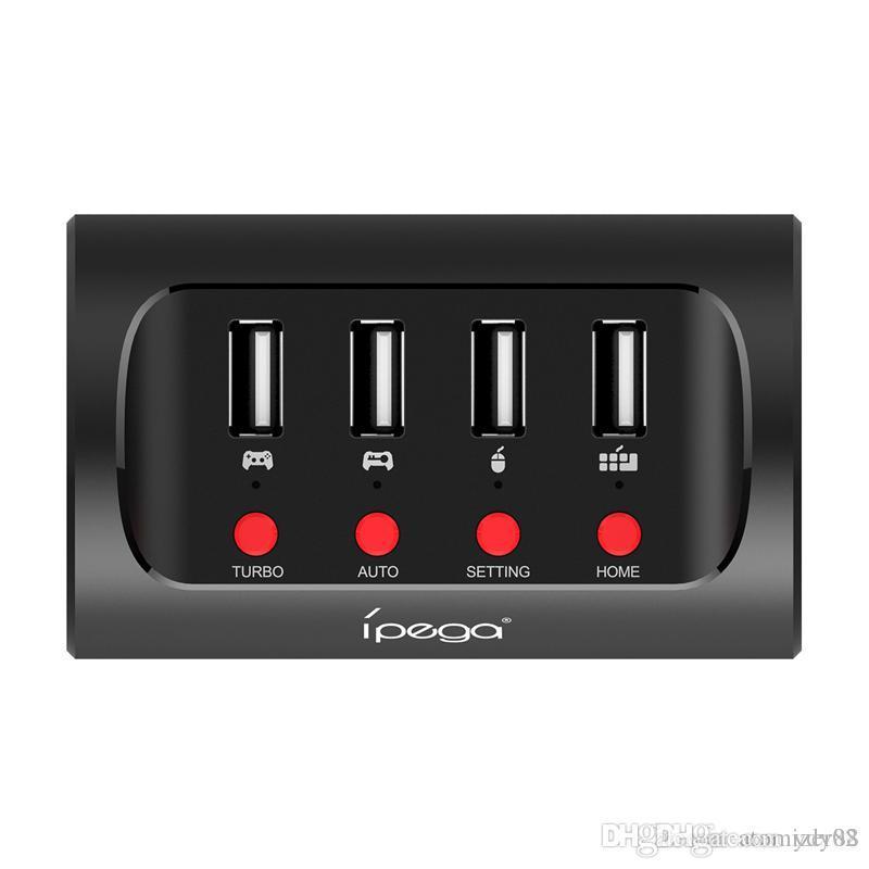 Haute qualité IPEGA PG-9133 Clavier / Souris Convertisseur Portable N-Switch / P4 / X1 pour le contrôleur FPS Game TURBO / AUTO / Fonc
