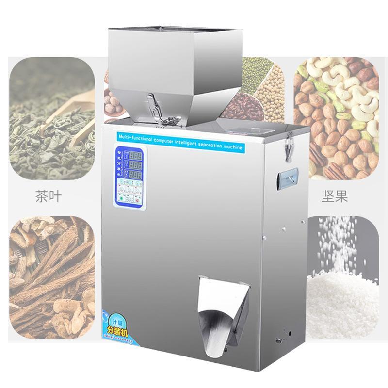 350W quantitative Füllmaschine für Tee Korn Saatkorn Granulatpulver Automatische Wägemaschine 10-999g Verpackungs