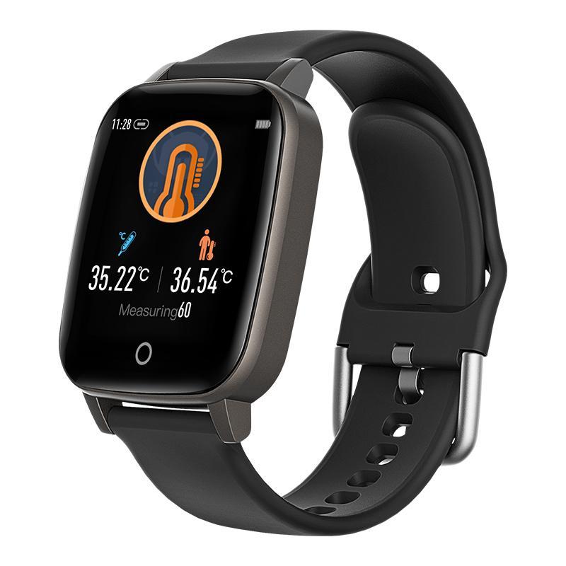 Termometre bilgi itme spor izci kalp hızı Akıllı Bilezik izleme 1.3 inç Akıllı İzle Bileklik Vücut ısısı