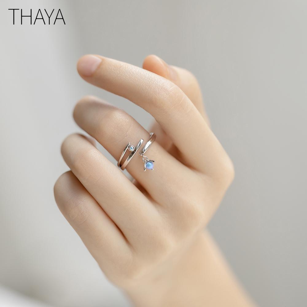 Мечта дизайн кольца Урожай цветной жемчуг S925 стерлингов серебряные ювелирные Тайя летнюю ночь кольцо для женщин