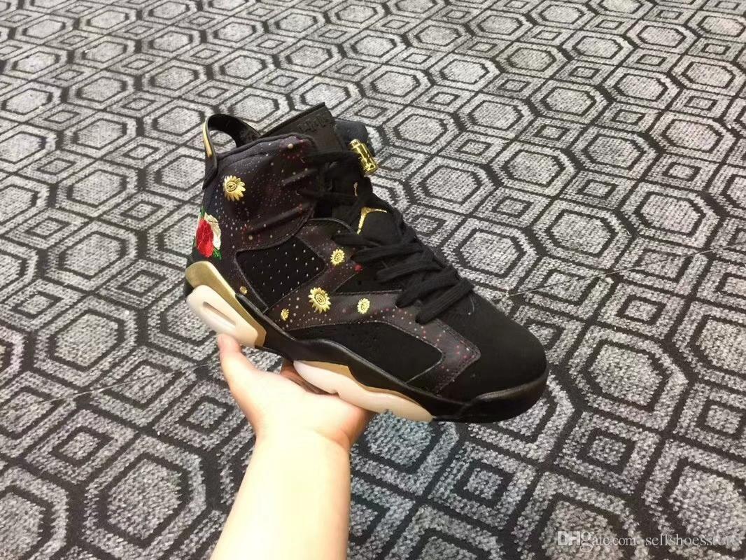 새로운 도착 남성 6 VI 농구화는 중국 올해는 상자 뜨거운 판매와 육상 컴포트 스포츠 경량 신발을 인쇄