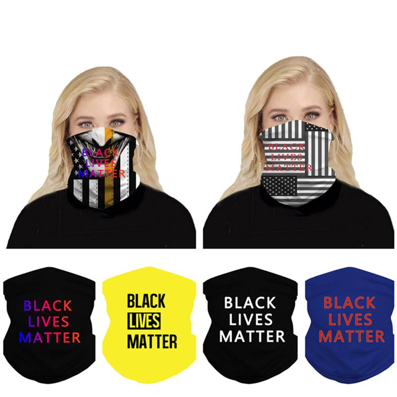 Magic Black Lives Matter Face Mask Sun-resistant Scarf Summer Dustproof Face Cover Outdoor Cycling Scarves Headband Multifunction Headband