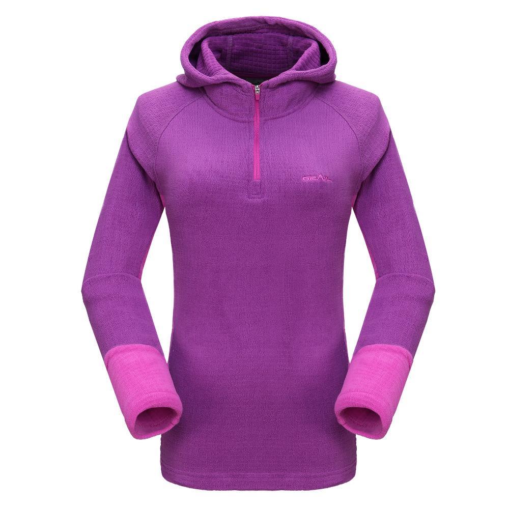ГРААЛЬ флис Тепловое Knit Hoodie Открытый Спортивная Женщины ветрозащитный дышащий Бег Отдых Туризм 7320A
