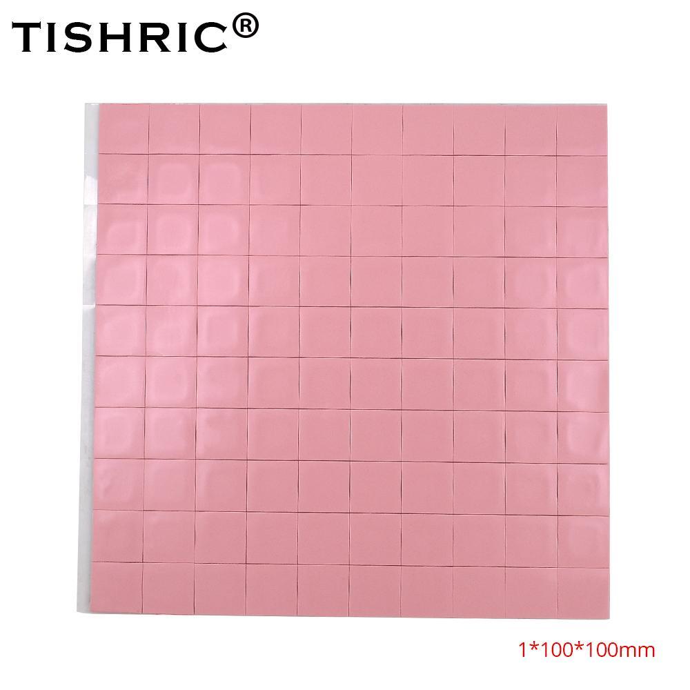 مراوح التبريد TISHRIC الحرارية تبريد وسادة لينة سيليكون 1MM GPU وحدة المعالجة المركزية غرفة تبريد موصل منصات لأجهزة الكمبيوتر المحمول بطاقة الجرافيك رقائق امتصاص الحرارة تبريد