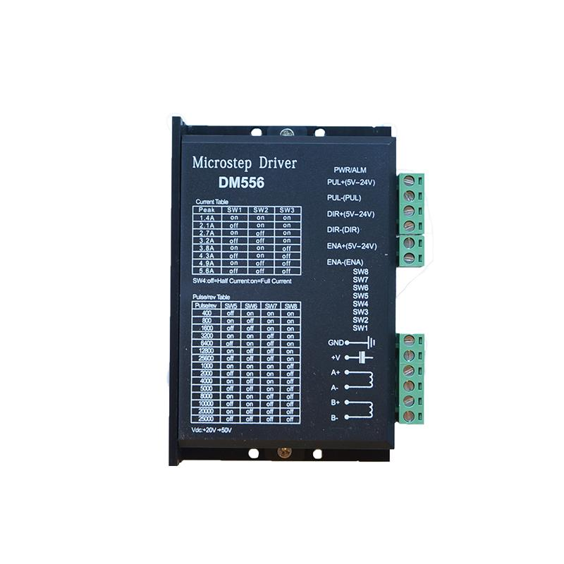 partes LY CNC DM556 Stepper Motor Driver Para 57 86 Series 2 fases Digital Stepper Motor Drive