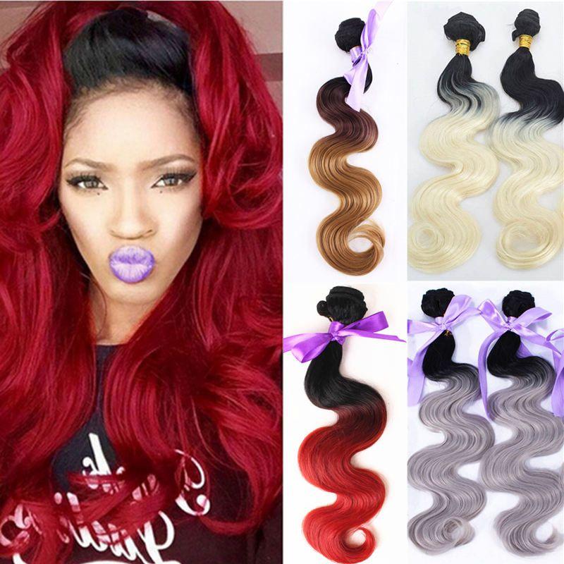 Capelli ondulati di alta qualità dei capelli dell'estetica di tessitura delle estensioni di tessitura delle estensioni di tessitura dei capelli di colore dell'onda del corpo di ombre 99j di alta qualità