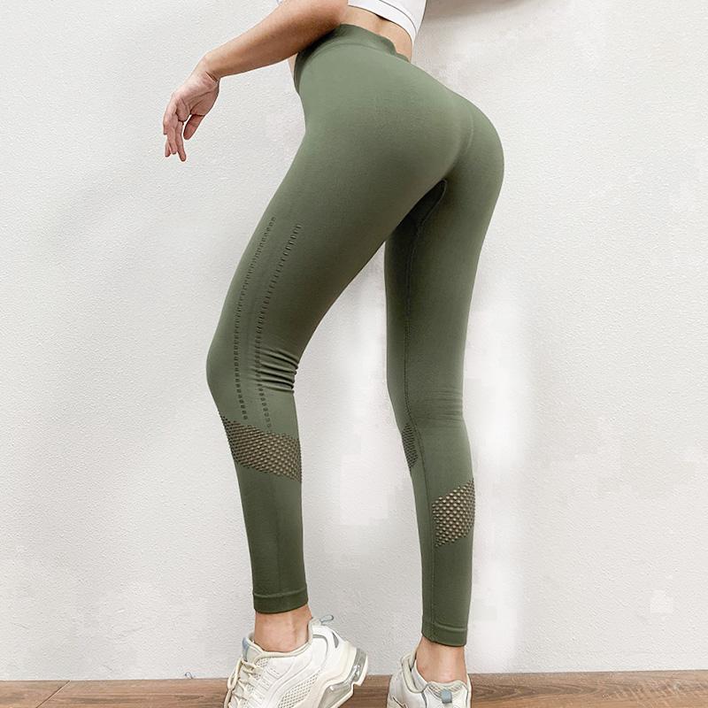 Mulheres Formação De Moda Empurram O Yoga Leggins Hollow Para Fora Ginásios Leggings Alta Cintura Correr Calças Yoga Vestuário Desportivo