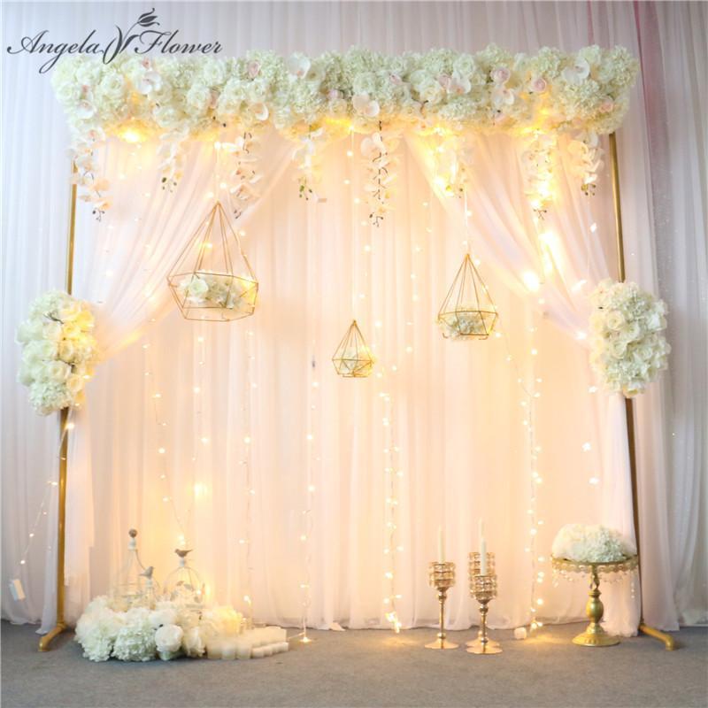 Diseño original Arco de boda Decoración de flores Arreglo de flores Tabla artificial Centerpiece Flower Ball Cortina de esquina Floral