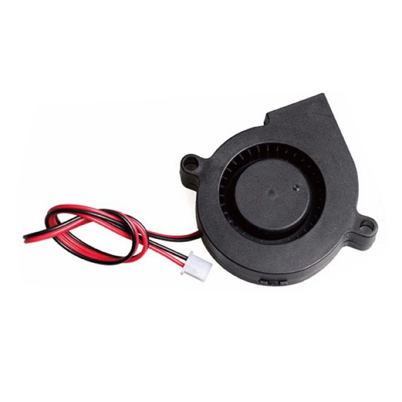 200PCS 5015 12V de resfriamento Printer Turbo Fan Brushless 3D Parts 2Pin para Makerbot RepRap Prusa I3 DC Blower 50x50x15mm plástico