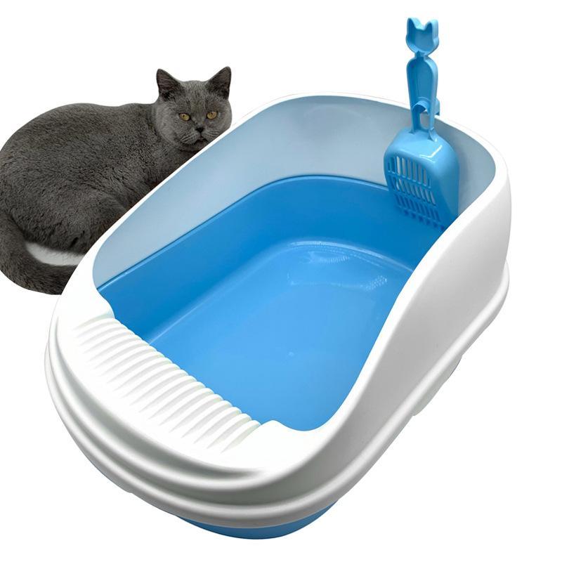 Spesso Environmentally Friendly Extra Large Cat igienici robusta lavabile oversize lettiera semichiuso a prova di perdite Cat Feci
