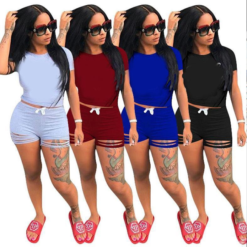 1 Short Sleeve T Shirt+1 Short Pants Clothes Women's Tracksuits Girls Sets Ladies Casual Running Clothing Adult Sportswear Suit