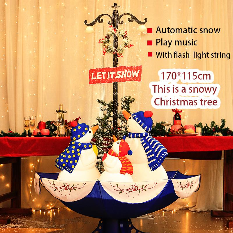 irade kar otomatik / müzik ve ışıklarla / yapay yılbaşı ağacı chrismas için dekorasyon Noel ağacı