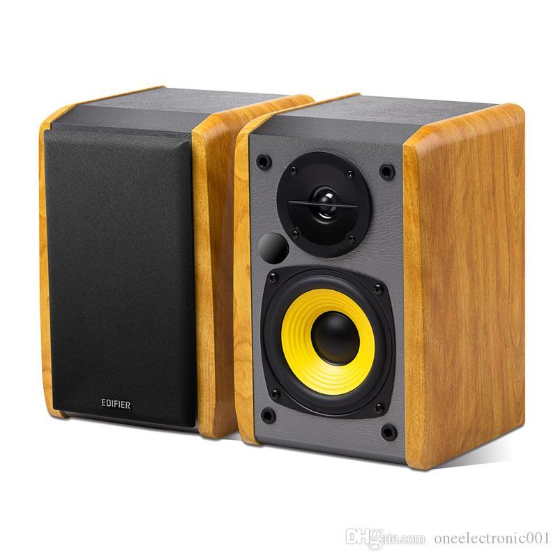 """Edifier R1010BT Bluetooth-Lautsprecher Mittlere Dichte Fiberboard Active Bookshelf-Lautsprecher 4 """"Bass-Treiber Kombination Computer-Lautsprecher"""