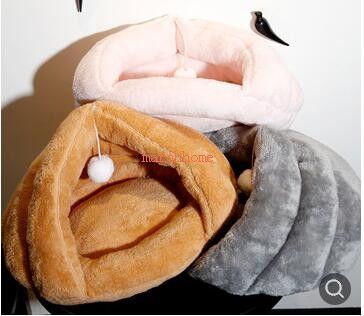 SIZE 50 * 40 * 30 SM Warm Warred House Kennel Bed Multi-function Pet Cat Dog Fleece Sleeping Bag
