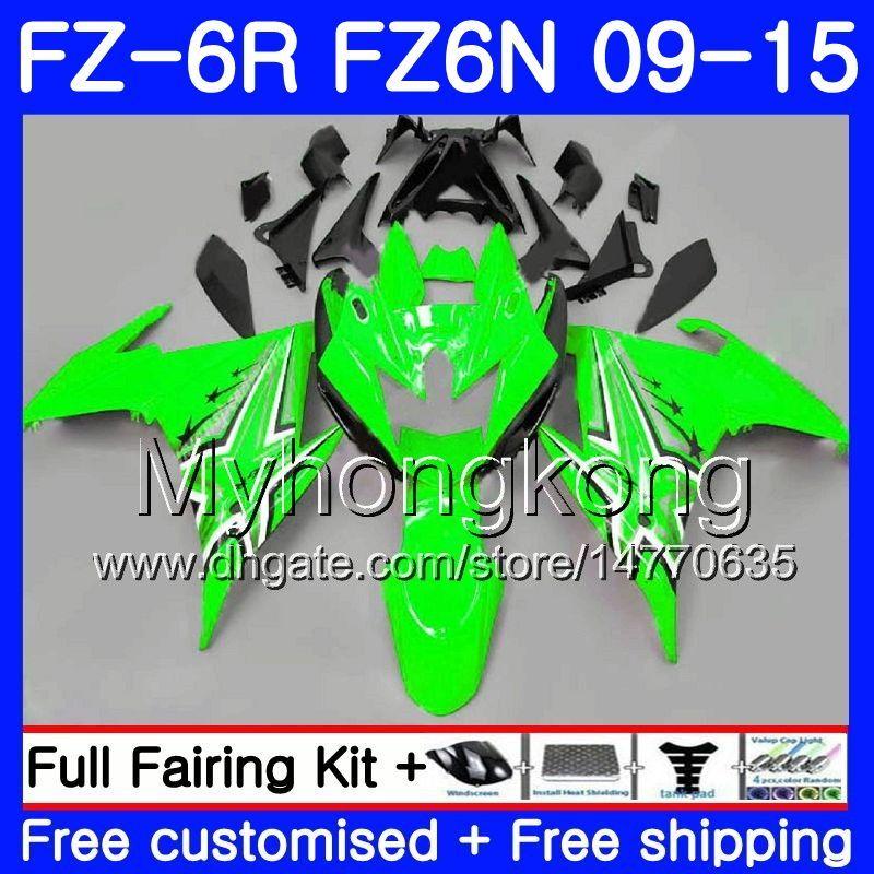 Cuerpo para YAMAHA FZ6N FZ-6R 2009 2010 2011 2012 2013 2014 2015 239HM.38 FZ 6R FZ6 R FZ 6N FZ6R 09 10 11 12 13 14 15 Carenados caliente Verde brillante