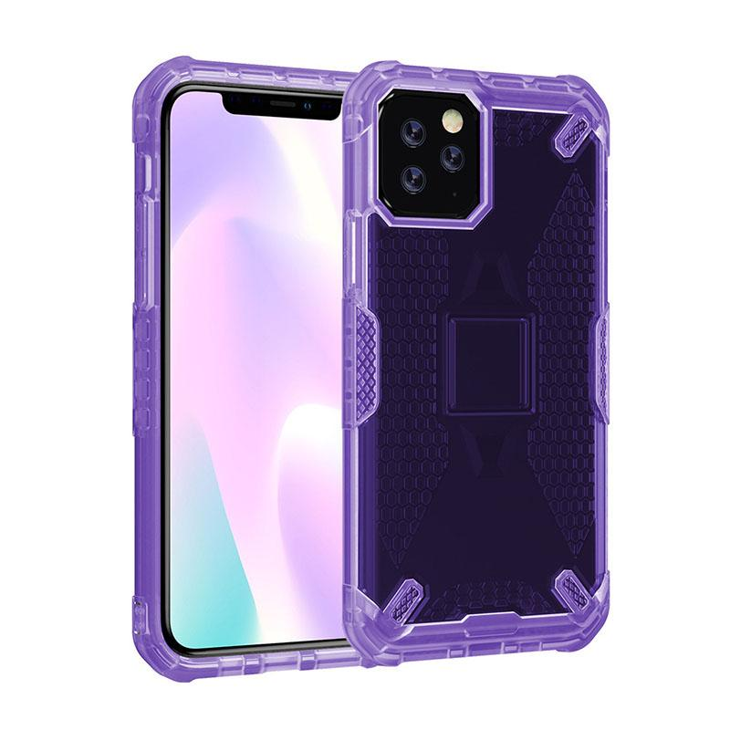 cassa del telefono caso molle trasparente TPU PC antiurto completo protegge la copertura posteriore dell'ala progettista telefono di iPhone 11 pro max XR X678 più