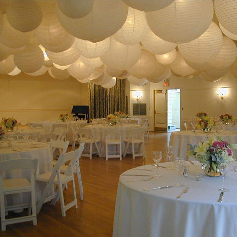 60pcs Mix Size  White Paper LanternsChinese Paper Ball Lampion For Wedding