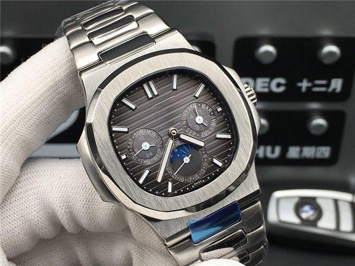 Супер 52 5726 / 1a-1 Montre DE LUXE автоматического часов рафинированных стальная оболочка рукав 44.5mm * 12mm водонепроницаемых 50й сапфир царапаться стекло