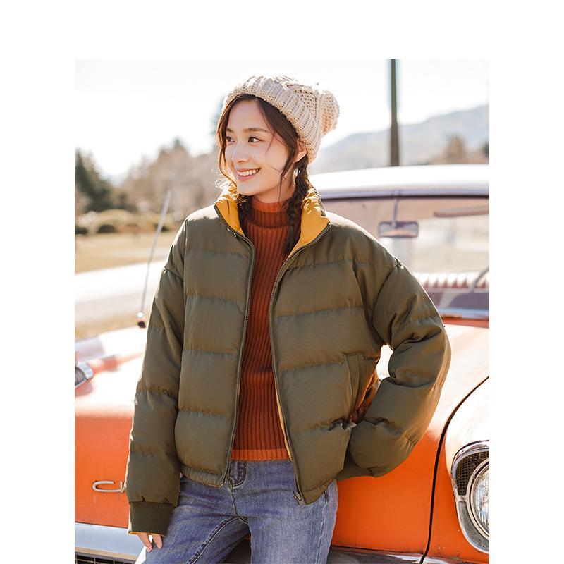 INMAN Inverno collare del basamento retro stile coreano del bicchierino di modo giù donne del rivestimento del cappotto SH190930