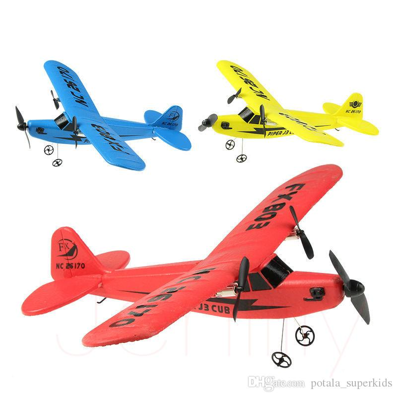 2CH Glider Airplane with Remote Controller 2.4G Mini RC Airplane Great SkySurfer Toy for Kids Children Favor Remote Control Plane Carton Box