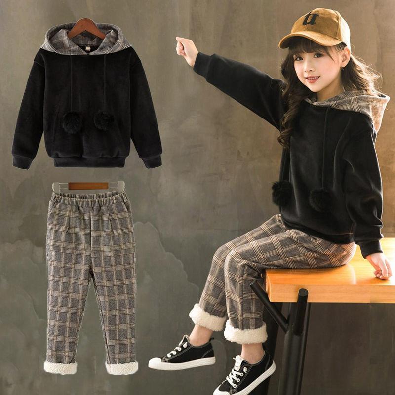 Crianças Roupa Conjunto Outono Inverno das meninas do miúdo roupa Sweatset Outfit Suit Clothes crianças Treino para meninas Roupa Define 2019