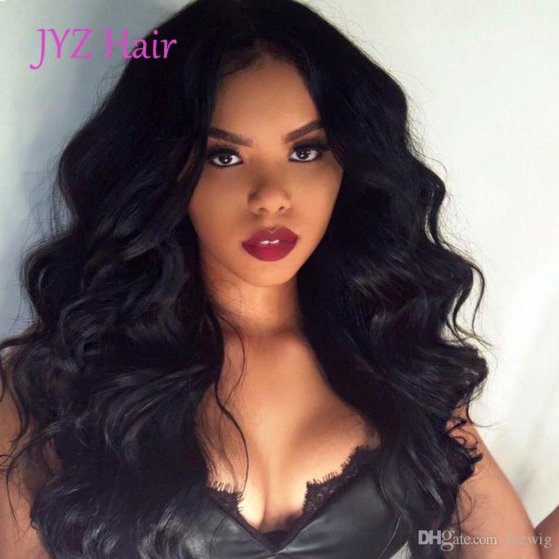 2017 neue Art und Weise löst Welle Menschenhaar-volle Spitze-Perücke brasilianischen Malaysian Virgin Haar-Spitze-Front-Perücke Glueless lösen Welle Top Perücken