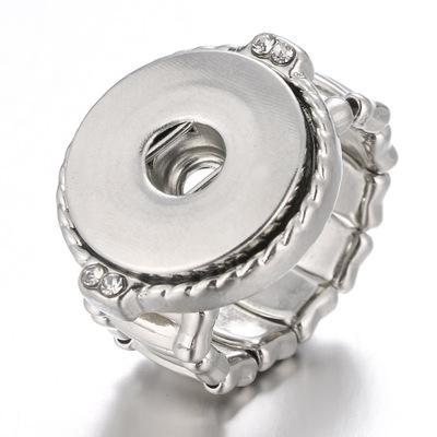 여성 남성 쥬얼리 저렴한 도매 빈티지 누사 스냅 버튼 반지 탄성 로프 조절 12mm의 18mm 덩어리 진저 스냅 버튼 링