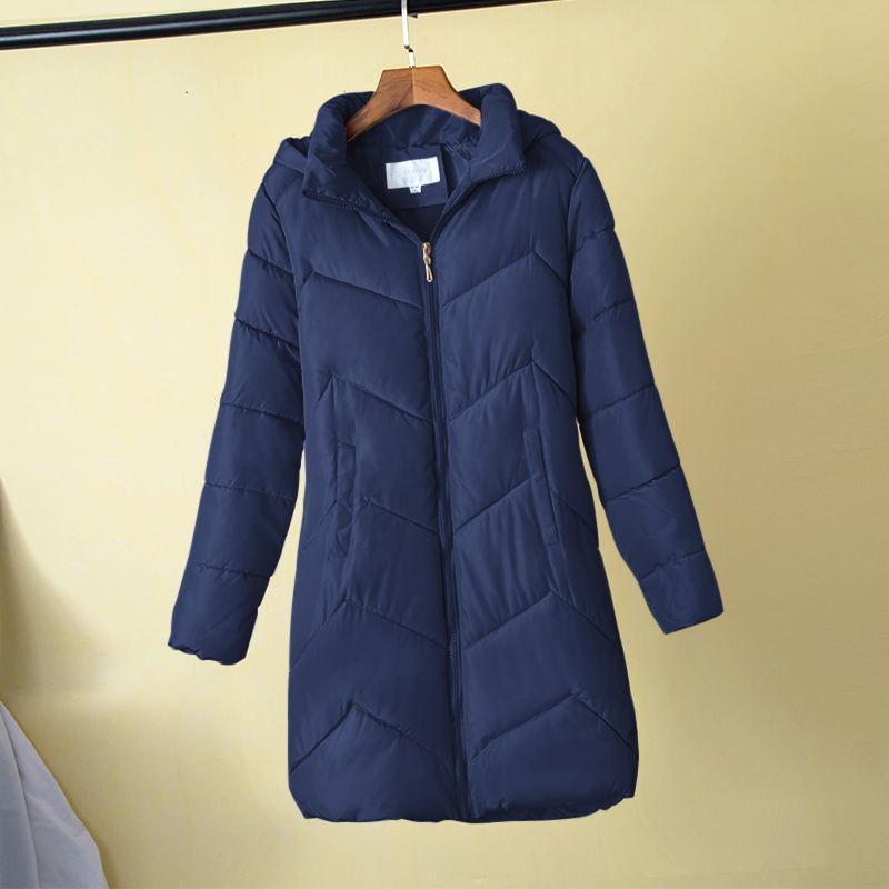 Artı boyutu 5XL 6XL 7XL Kadınlar Kış Sıcak Coat Kadın Sonbahar Kapşonlu Pamuk Temel Ceket Kış Kabanlar İnce Uzun Bayanlar chaqueta T200111