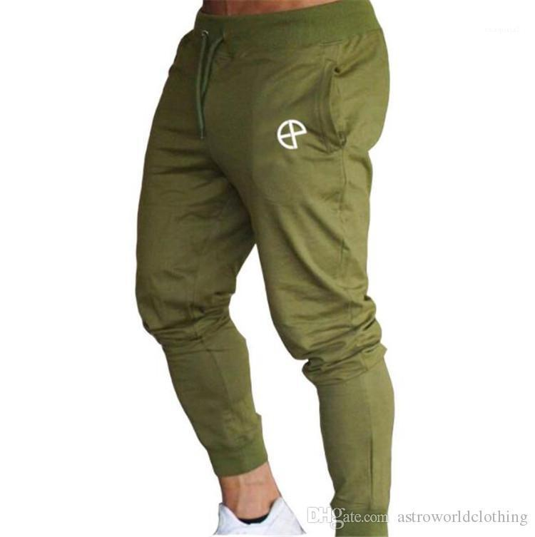Mens Sports Pants Fitness Stretch Long Mens Trousers Solid Color Male Pencil Pants Jogger