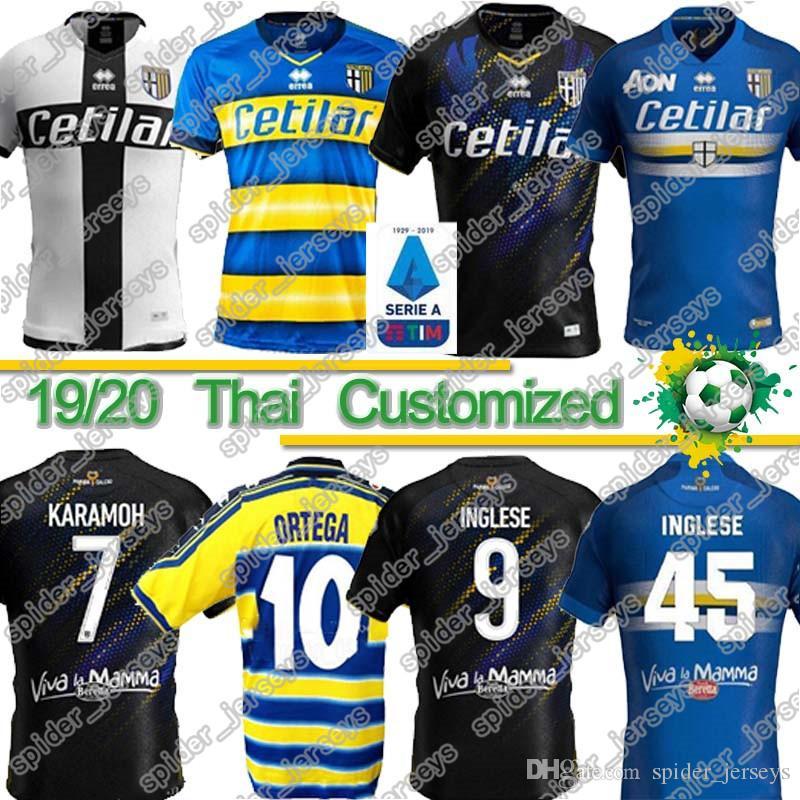 Thai 19 20 Parma Soccer Jersey third Black INGLESE 2020 Insigne Di Gaudio BRUNO ALVES Calaio Home Away Ceravolo football uniforms shirts