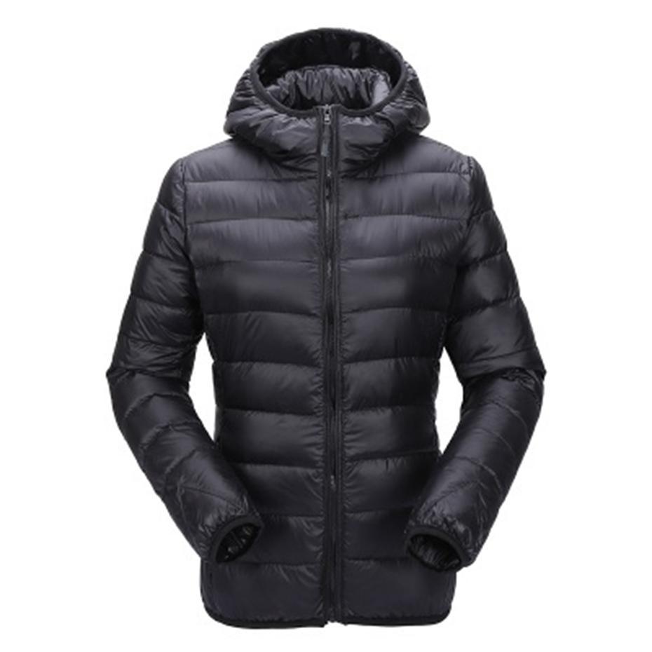 Zogaa Kadınlar Ultra Işık Aşağı Ceket Kapşonlu Kış Coat Slim Fit Katı Fermuar Palto Sonbahar Kış Kadın Parka Ceket Dış Giyim