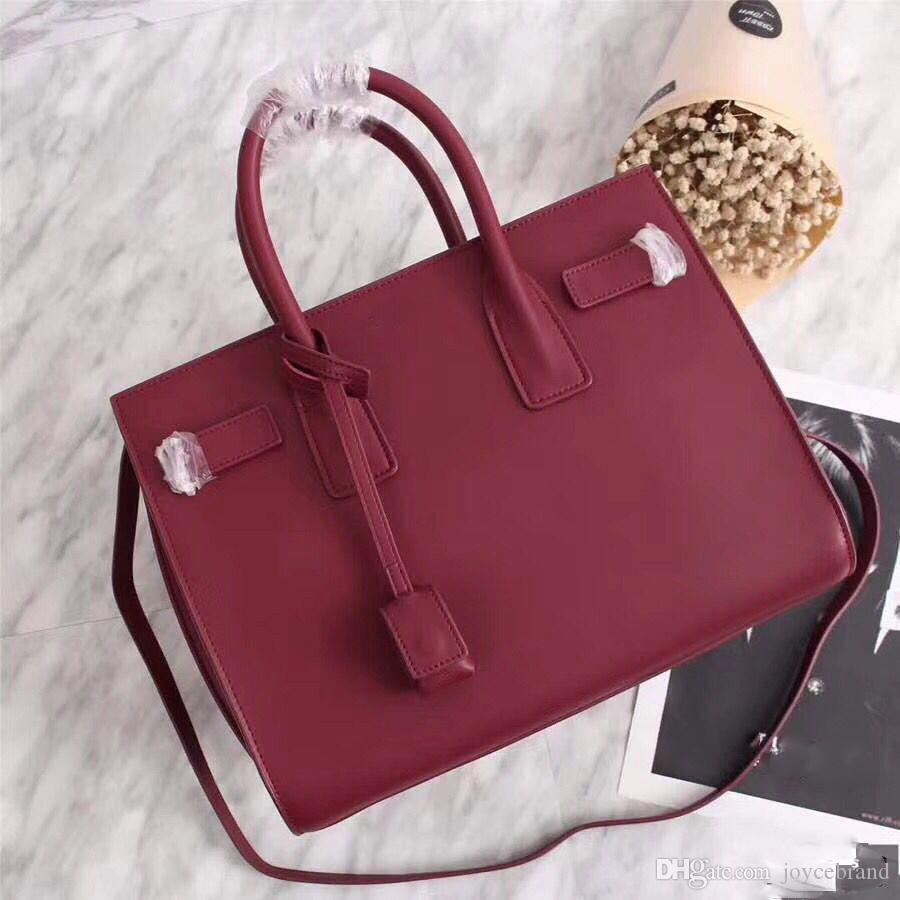 Signora Tote delle donne di cuoio reali di tote borsa del cuoio genuino borsa ufficiale barbona affari stile