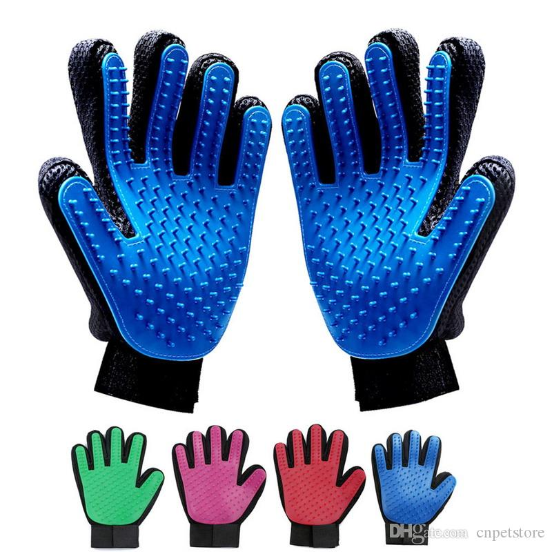 Pet hair glove Comb Pet Dog Cat Grooming Cleaning Glove DesheddingHand Hair Removal Brush Promote Blood Circulation