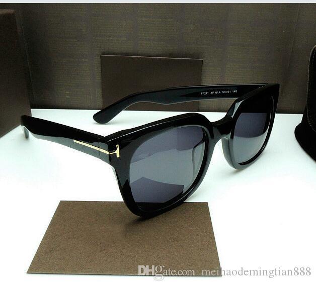 Heiße Verkauf Art und Weise Tom-Marken-Entwerfer polarisierte Sonnenbrille der Frauen der Männer TF Sonnenbrille UV400 Oculos masculino Männlich TR90 Brillen 211