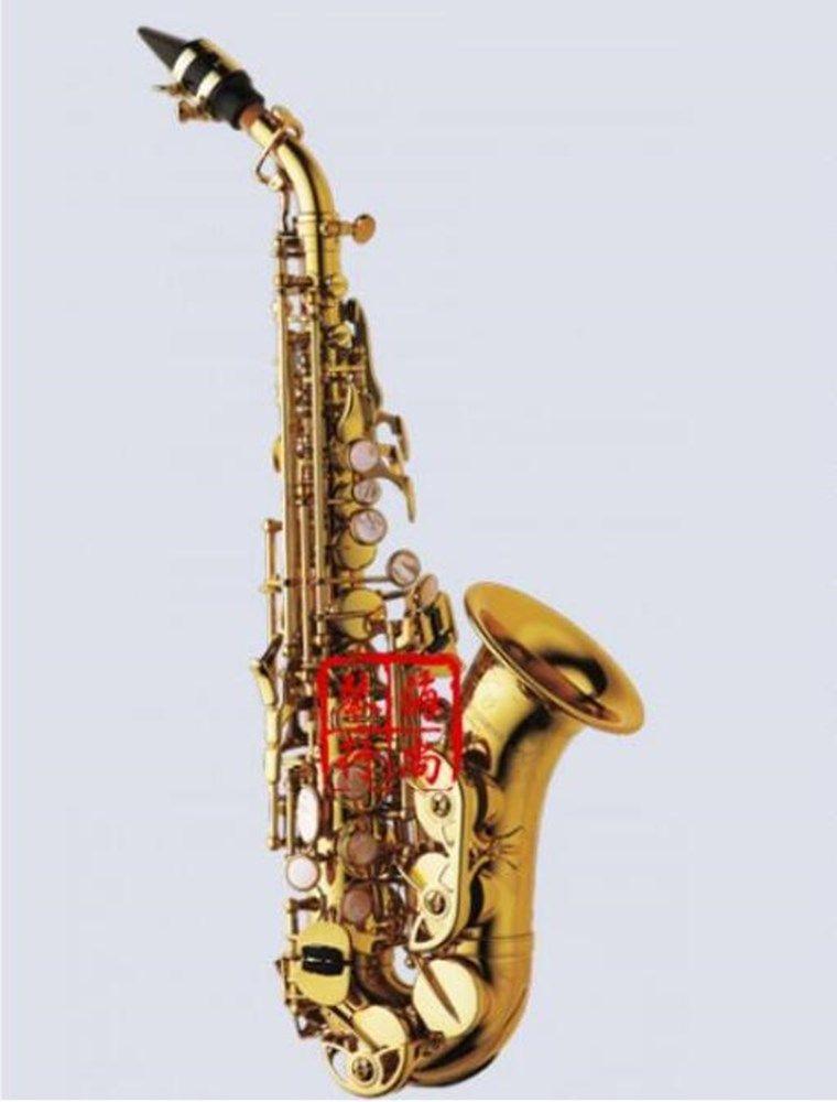 وشملت الجديدة ياناجيساوا منحني سوبرانو الساكسفون S-991 الذهب الطلاء ساكس منحني سوبرانو آلات موسيقية الفنية حالة