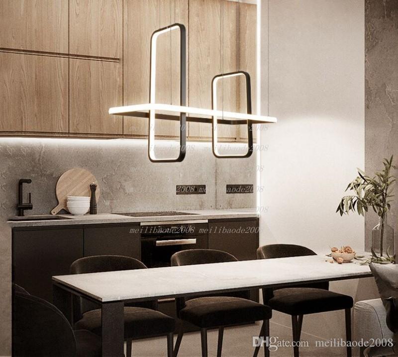 Luces colgantes del LED moderno nórdico para la sala de estar de la sala de estar colgante colgante lámpara accesorio mate negro / oro acabado araña iluminación