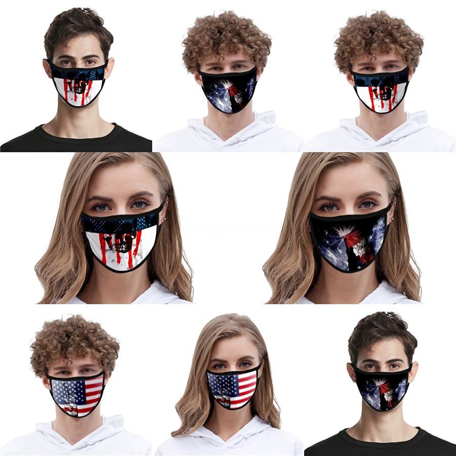 Zkgf Masque 3PLI non tissé Masques bouche Accueil Utilisation de respirer les poussières 50 1pcs Designer Facemask Noir Bleu # QA182 Située à 5 mn