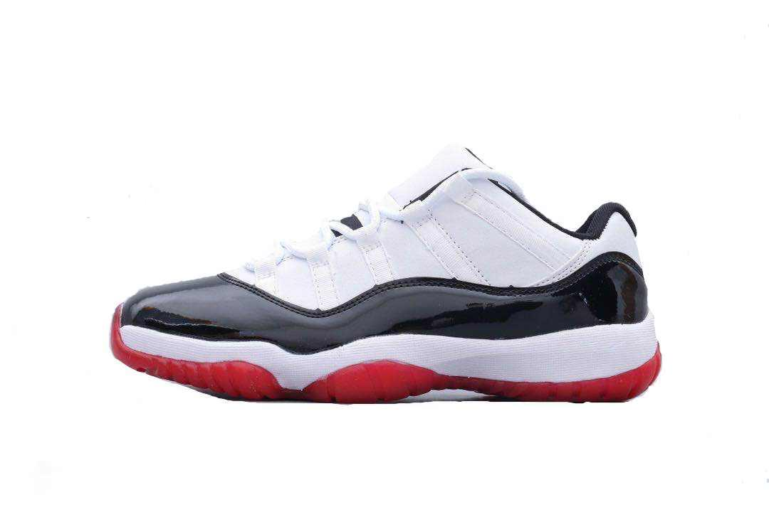11s Red Concord Low Black White 11