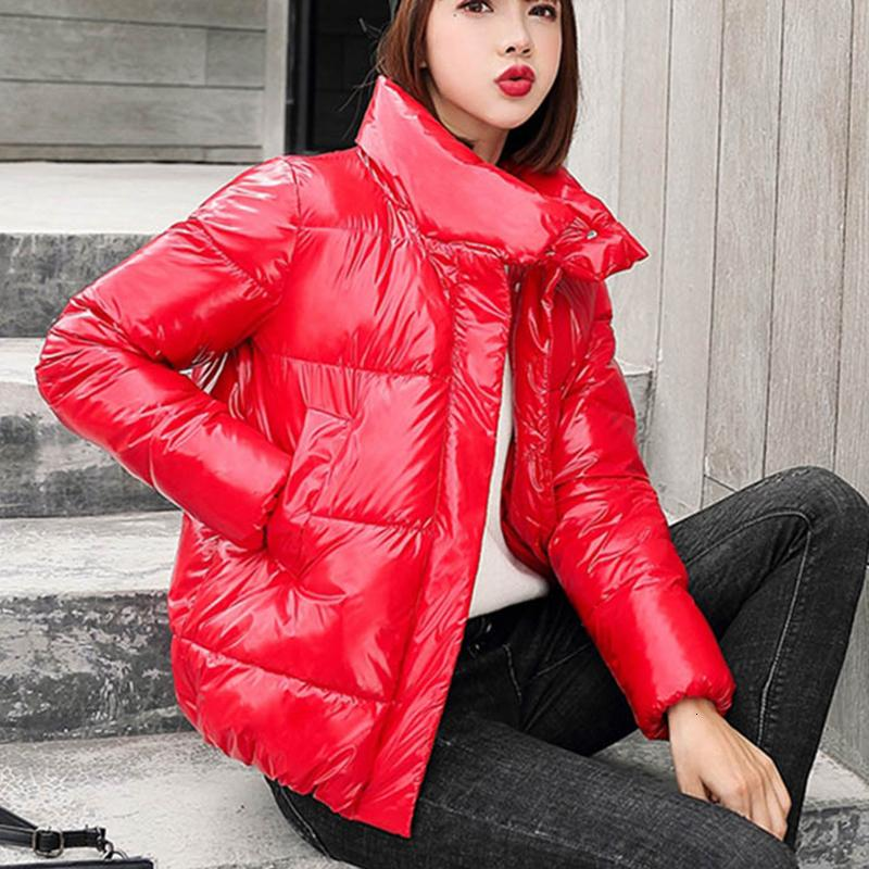 Womens Casacos de inverno jaqueta de algodão Parkas Roupa 2019 Nova Versão Coreana Para Fora desgaste de espessura Parkas Brasão Mulher T191021
