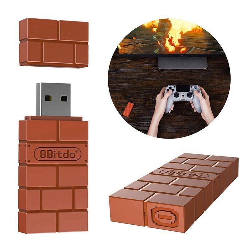 PS3 / Xbox Controller için Mini 8Bitdo USB Kablosuz Bluetooth Adaptörü Gamepad Alıcısı İçin Windows Mac İçin Nintend Anahtarı