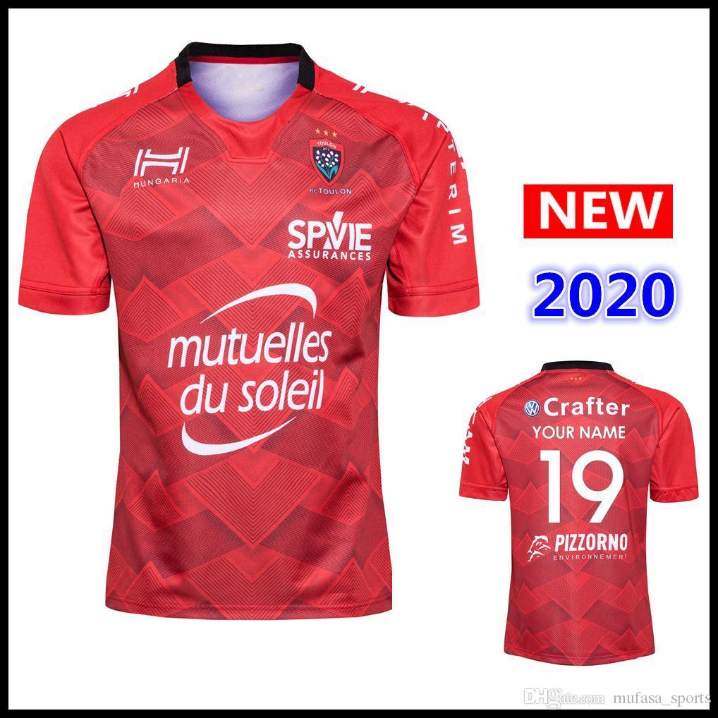 El nombre y el número 2020 Toulon camisetas de la camisa alternativa Rugby camiseta de la selección de rugby Liga Internacional TOULON camiseta s-5XL