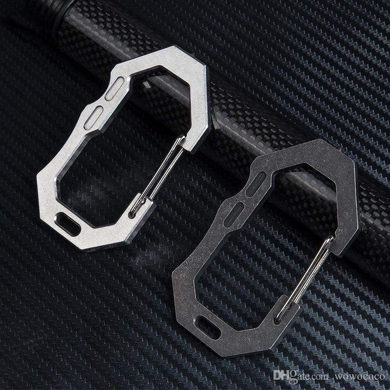 EDC keychain Quickdraw Backpack Clip Buckle Outdoor Portable 420 Stainless Steel with Tungsten Head X241