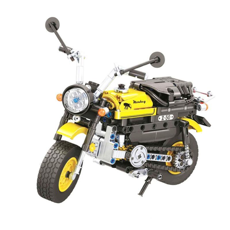 7071 402pcs Legoinglys تكنيك البسيطة دراجة نارية دراجة نارية بناء كتلة ديي الطوب الطوب ألعاب تركيب ذكي للأطفال