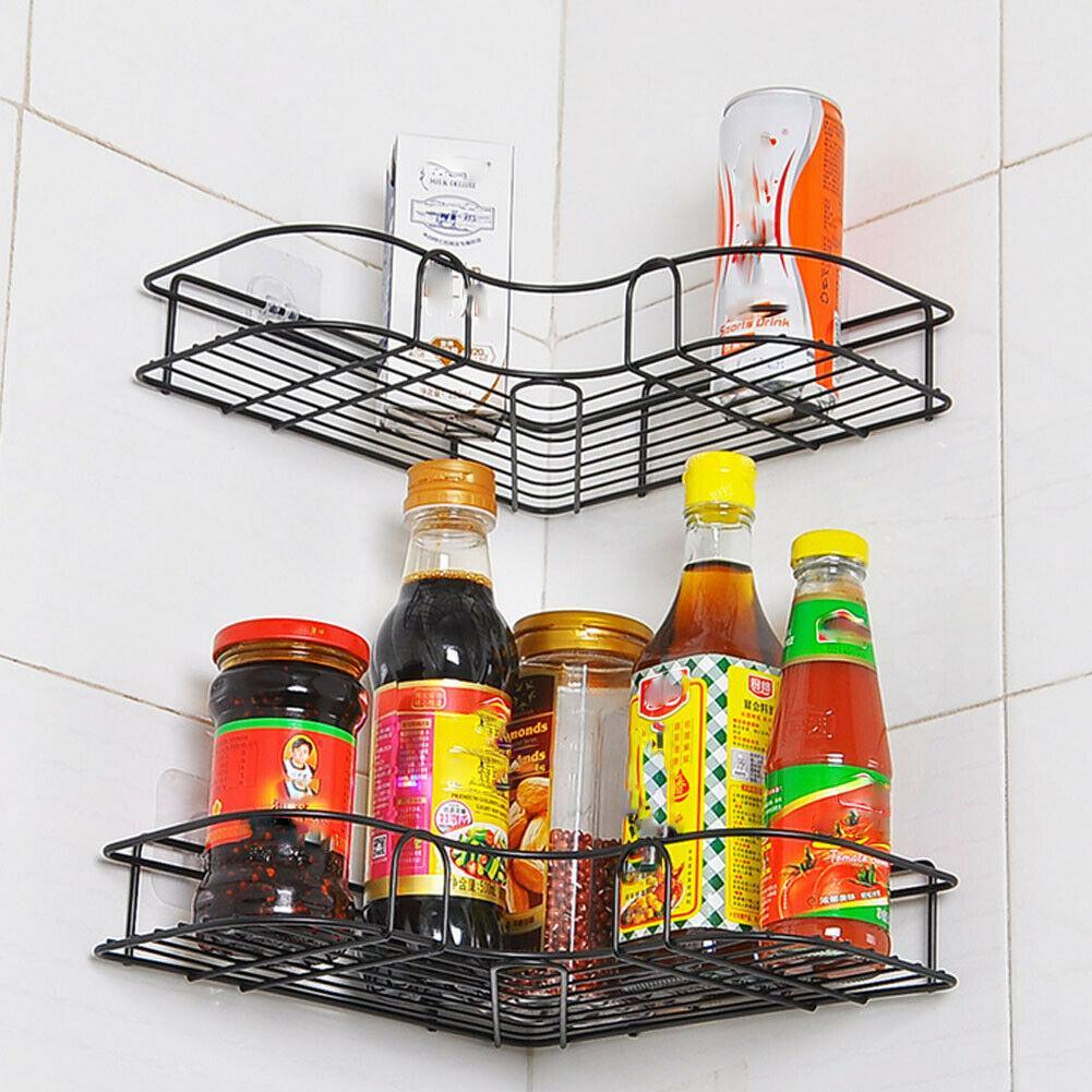Estante de la esquina de la ducha tensión Polo Caddy Organizador de baño rack de almacenamiento de baño
