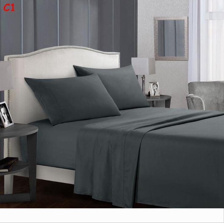 Queen King Size Bedding Sheets Set Soft Comfortable Flat Sheet Fitted Sheet Pillowcase Set Back To School Twin Full Queen King Size Cheap Queen Comforter Sets Black And White Duvet From Ld199610